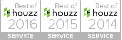 Best of Service, Houzz 2014,2015,2016